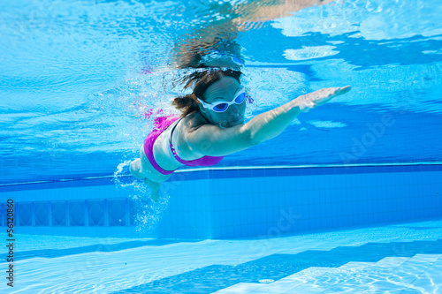 Swimming in pool