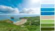 Coast landscape color coded