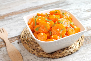 Carrot salad traditional from Morocco