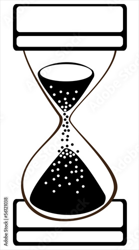 vector hourglass on white background