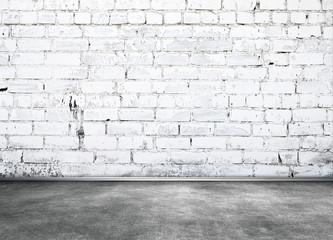 White brick wall interior