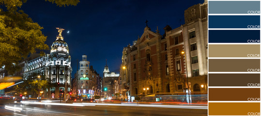 Madrid by night, color code