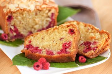 parts de cake aux framboise 6