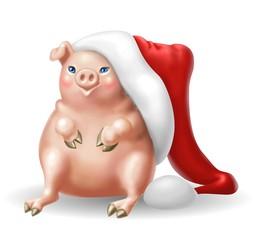 maiale natalizio