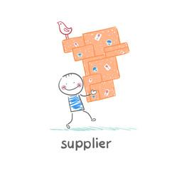 supplier carries goods