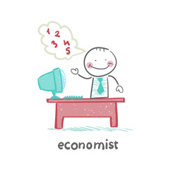 economist  sitting at work