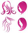 Fashion icon. symbol of female beauty on purple