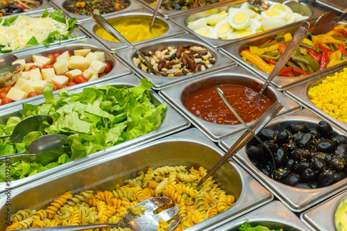 A colourful salad buffet in a restaurant - 56122483
