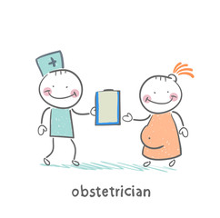 obstetrician with a patient