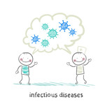 infectious diseases specialist says with a patient about infecti