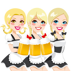 Oktoberfest Waitress Beer Toast