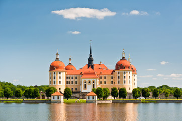 Close view of Moritzburg Castle