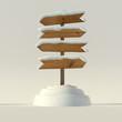 Winter signpost