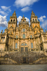 cathedral in Santiago Compostela, Spain