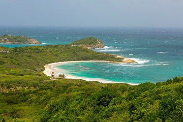 Tropical Deserted Beach in Half Moon Bay Antigua