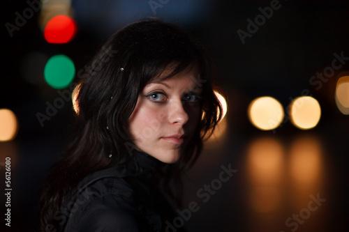 Girl in night city