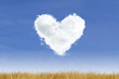 Heart-Cloud on Blue Sky