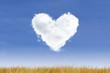 Heart-Cloud on Blue Sky