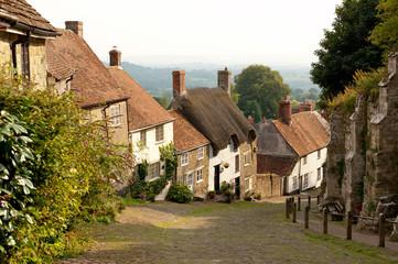 Gold Hill, Shaftesbury, Dorset, UK