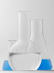 several flasks