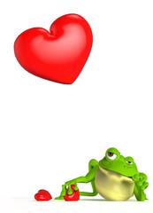 Rana Mirando Corazón