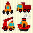 icon set transport - vector collection illustration