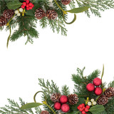 Decorative Christmas Border