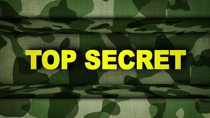 TOP SECRET Yellow Text in Military Door (2 Versions)