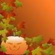 Halloween Kürbis Herbst Laub