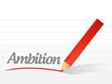 ambition written on a white piece of paper. poster