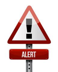 alert road sign illustration design