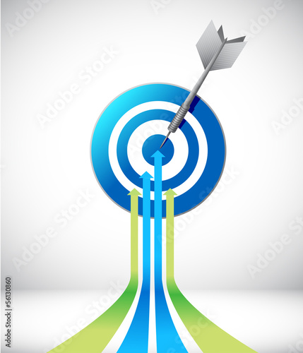 leader arrow and target. illustration design