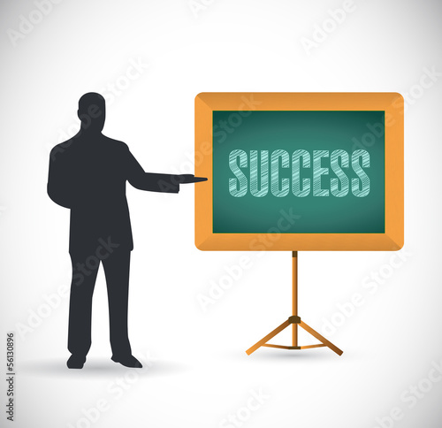 success presentation concept illustration design