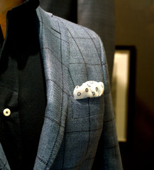 Male mannequin with clothes