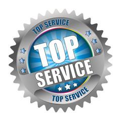 Bügel Button Kranz Top Service Hell-Blau