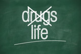 say no to drugs, choose life poster