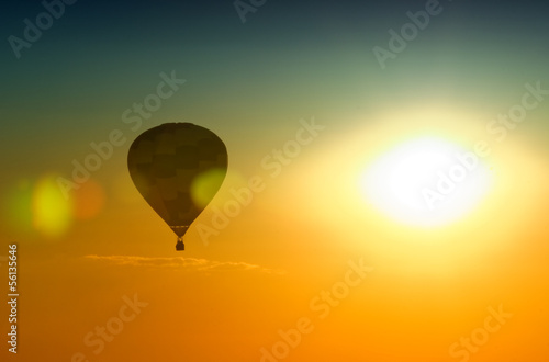 Foto op Aluminium Ballon hot air balloon