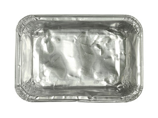 Foil tray isolated on white background