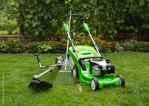 Outdoor shot of garden equipment. - 56137486