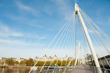 Hungerford Bridge, London, England