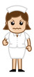 Annoying Nurse - Medical Cartoon Vector Character
