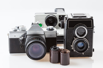 Cameras and film roll