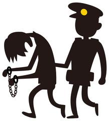 逮捕する警察