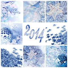 Collage 2014, noël bleu