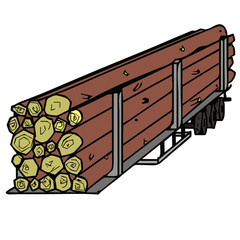 vector drawing of a trailer
