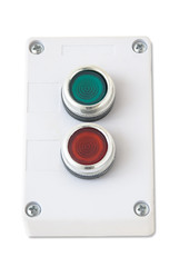 green and red buttons