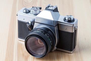 Reflex camera, closeup