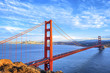 view of famous Golden Gate Bridge
