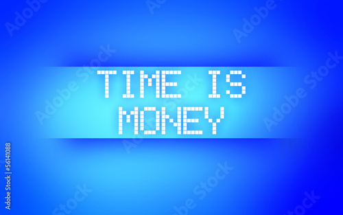 TIME IS MONEY BLUE