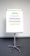 """Flip-Chart: """"Treffpunkt"""" in fünf Sprachen"""